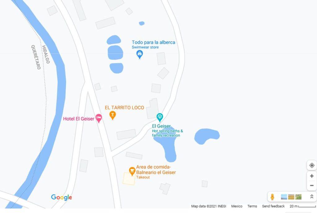 El Geiser en Google Maps
