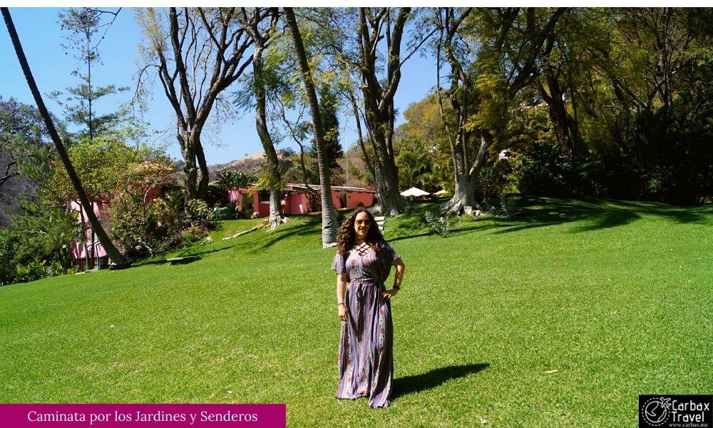 Jardines del Hotel Agua Blanca Michoacan