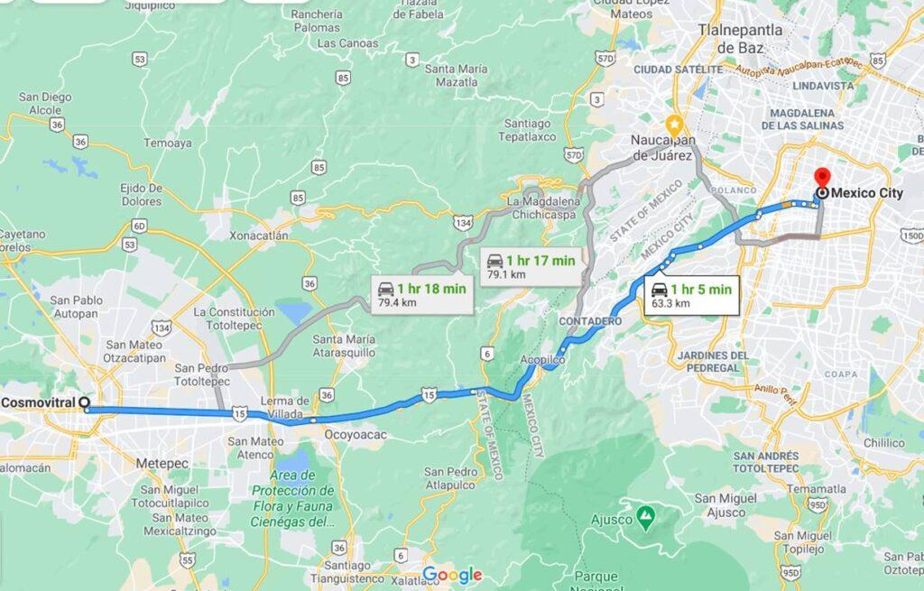 Cosmovitral mapa google