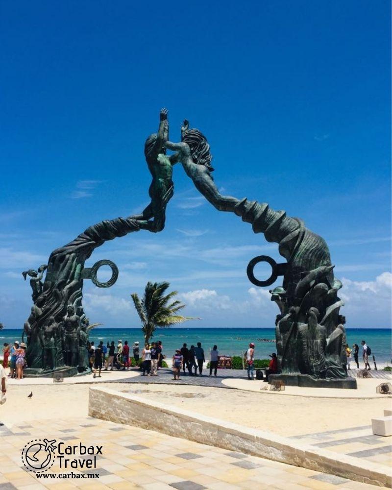 Portal Maya obra de arte y escultura