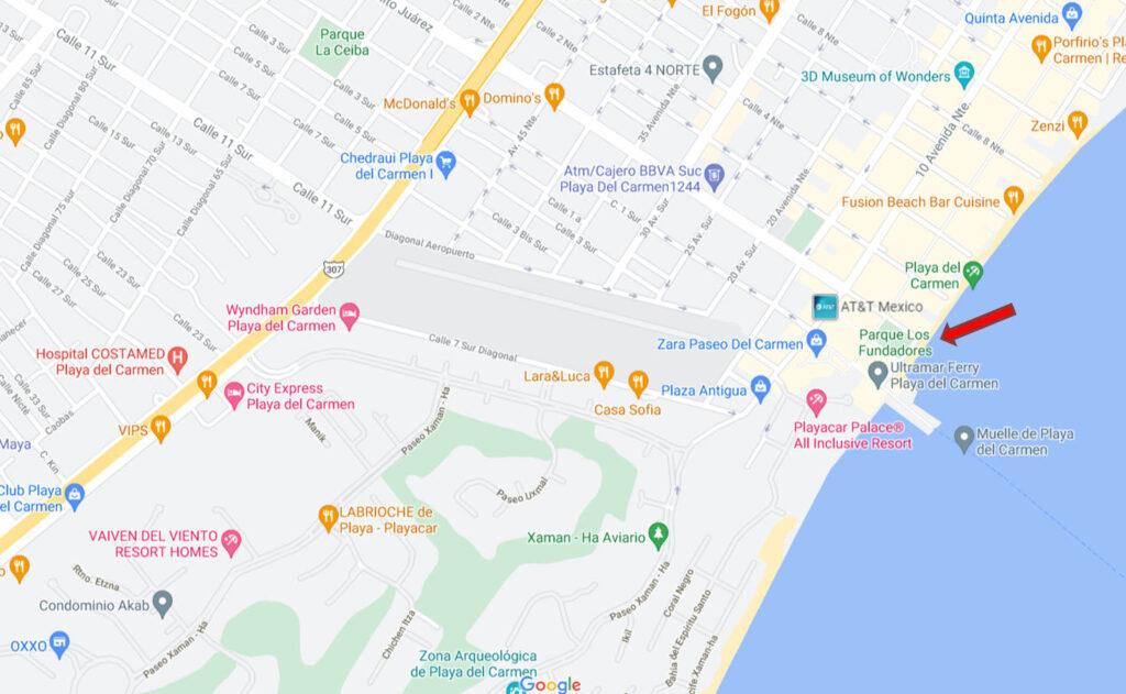 Parque Fundadores Mapa Google