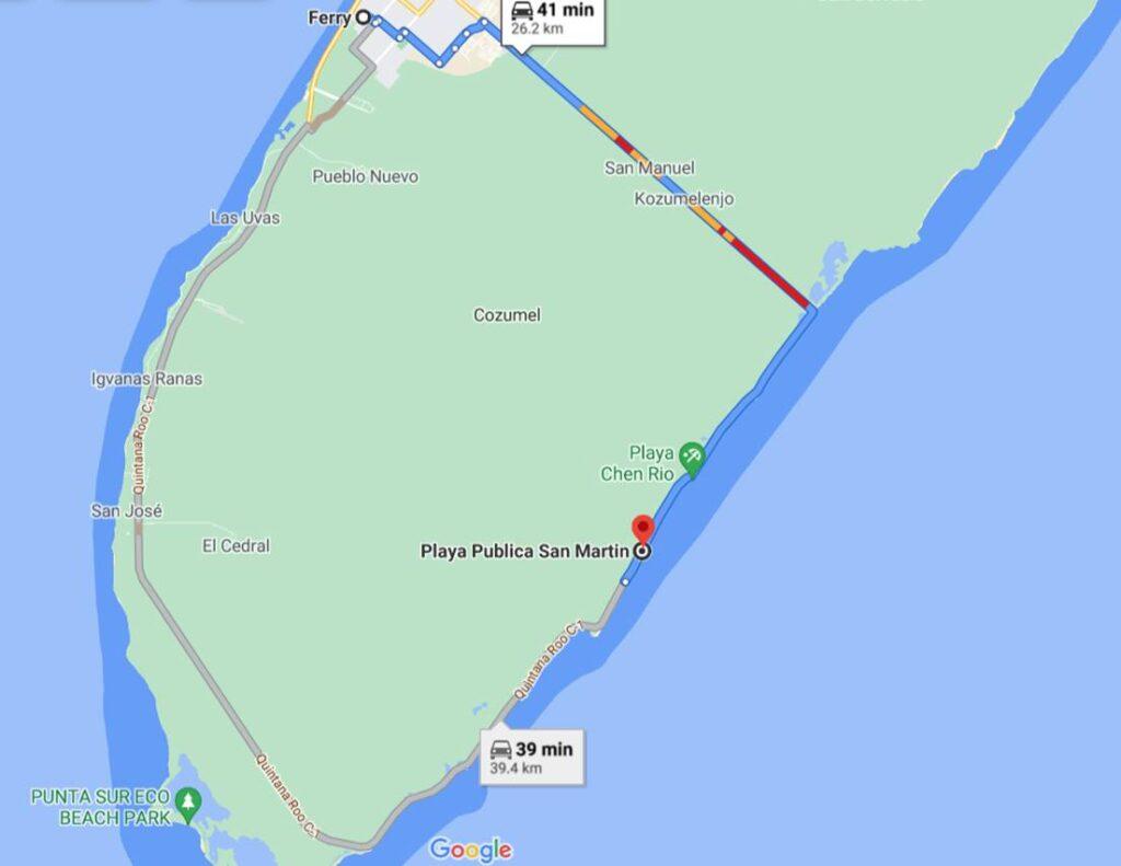 Google Maps Ubicacion de la Playa