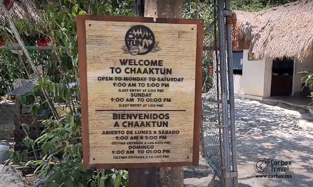Cenote Chaaktun tesoro escondido en Playa del Carmen - Horarios