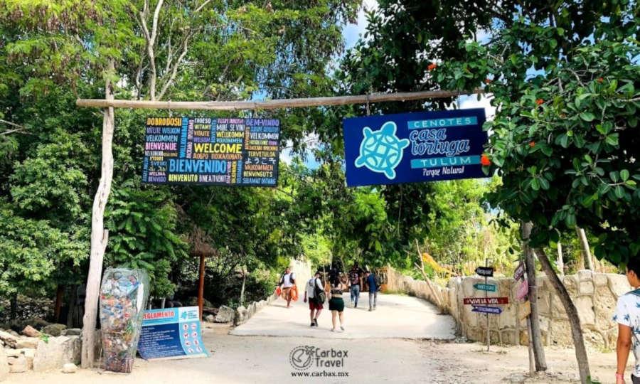 Entrada a Cenotes Casa Tortuga
